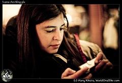 Ivana checking pix