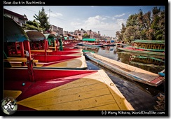 Boat dock in Xochimilco