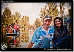 Us in Xochimilco