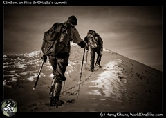 Climbers on Pico de Orizaba's summit