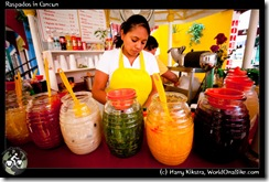 Raspados in Cancun