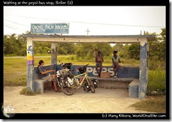 Waiting at the pepsi bus stop, Belize (2)