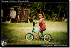 Young cyclist, Northern Highway, Belize