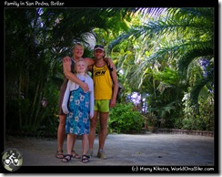 Family in San Pedro, Belize